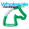 Custom Engraved Horse Carabiner Keychains - Green