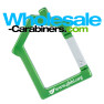 Laser Engraved House Shaped Carabiner Keychains - Green