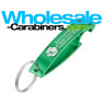 Green Bottle Opener Keychain - The Wave - Custom Engraved