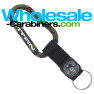 80mm Camouflage Carabiner Shown With Compass Strap