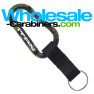 Engraved 80mm Camouflage Carabiner Keychain Shown With Nylon Strap