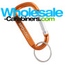 Customized 2.5-inch Orange Carabiner Keychain