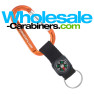 Compass Strap Carabiner Keychains with Laser Engraving  - Orange