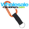Engraved Carabiner With Nylon Strap - Orange Keychain