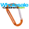 Orange 3.125-inch Carabiner Keychains with Customized Engraving