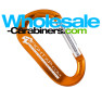 The Original LogoBeener® Carabiner With Custom Laser Engraving - Orange