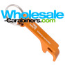 Keychain Pop-A-Top Bottle Opener in Orange with Customized Engraving