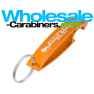 "Anodized Aluminum Bottle Opener Keychain - Orange Colored ""The Wave"""