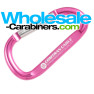 60mm / 2.5-inch Pink Carabiner Keychain with Custom Engraving