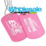Pink Dog Tags Custom Laser Engraved With Your Artwork