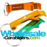Vibrantly Colored Pop-A-Top Bottle Opener Keychains - Orange, Gold, Green