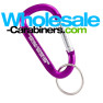 Purple Carabiner With Custom Laser Engraving and Key Ring