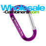 Logo Engraved 3.125-inch Purple Carabiner