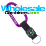 Customizable Carabiner Keychains with Compass Straps - Purple