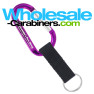 Custom Engraved Purple Carabiner Keychains With Nylon Strap Key Ring