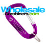 Promotional Carabiners - The LogoBeener® Engraved Keychain - Purple