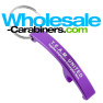 Purple Keychain Arc Bottle Opener with Custom Engraved Logo