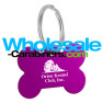 Custom Dog Tags - Purple Bone Shaped Tags with Custom Engraving
