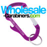 2-in-1 Bottle Opener & Carabiner With Custom Engraving - Purple