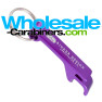 Logo Engraved Purple Pop-A-Top Bottle Opener Keychain