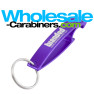 Stylish Purple Bottle Opener Keychains - The Wave Custom Engraved Aluminum