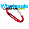 Laser Engraved 50mm Carabiners (2-inches) - Red Color