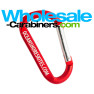 Engraved Red Carabiner Keychain 3.125-inches (80mm)