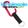 Laser Engraved Carabiner Keychains And Nylon Strap - Red