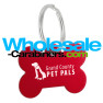 Custom Laser Engraved Dog Tags With Split Ring - Red Tag