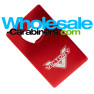 Logo Engraved Red Credit Card Aluminum Bottle Opener