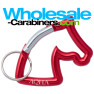 Laser Engraved Horse Shaped Carabiners - Red