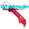 Laser Engraved Keychain Pop-A-Top Bottle Opener - Red