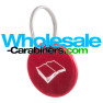 Custom Laser Engraved Medallion Dog Tags - Red