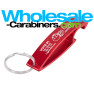 """The Wave"" Custom Engraved Red Bottle Opener Keychain"