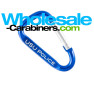 50mm Carabiner Keychains (2-inches) Custom Engraved Royal Blue