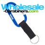 Blue Carabiner Keychains Custom Engraved With Nylon Strap Key Ring