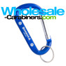 3.125-inch Blue Carabiner Keychain with Customized Engraving