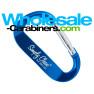 LogoBeener® Promotional Carabiner Keychains - Royal Blue