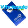 Blue Credit Card Bottle Opener with Custom Engraving