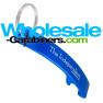 Royal Blue Designer Bottle Opener Keychain with Custom Engraving
