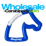 Horse Carabiner Keychains - Royal Blue Horse With Engraving