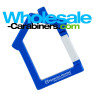 House Shaped Keychains - Royal Blue Custom Engraved Carabiner
