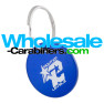 Royal Blue Custom Engraved Dog Tag Round Medallions