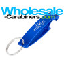 Aluminum Bottle Opener Keychain - The Wave - Royal Blue