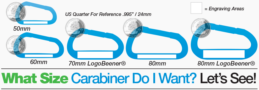 Carabiner Size Diagram