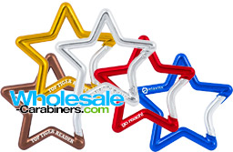 Star Carabiners Custom Engraved